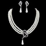 Gorgeous Pärla med Strass Kvinnor Smycken Sets (011017872)