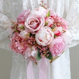Comely Free-Form Cloth/Ribbon Bridal Bouquets - (123205620)