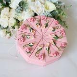 Amour doux Cubique/En forme d'ourson Carte papier Boîtes cadeaux avec Fleur(s) (Lot de 10) (050200872)