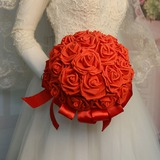 Round Artificial Flower Bridal Bouquets (Sold in a single piece) - Bridal Bouquets (123191644)