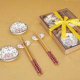 Mooie Sakura ontwerp Keramiek/bamboe Bestekset (051026314)