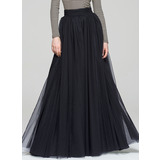 A-Line/Princess Floor-Length Tulle Cocktail Skirt (016087553)