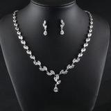 Ladies' Classic Zircon Jewelry Sets For Bride (011198426)