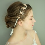 Ladies Gorgeous Imitation Pearls Headbands With Venetian Pearl (Sold in single piece) (042192981)