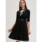 A-Line High Neck Knee-Length Cocktail Dress (016206557)