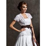 Kurze Ärmel Lace Hochzeit Bolero (013012557)