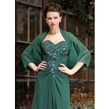 3/4-Length Sleeve Chiffon Special Occasion Wrap (013024370)