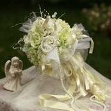 Traumhafte Rund Satin Brautsträuße (124032099)