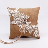 Elegant/Classic Linen Ring Pillow (103201156)