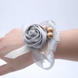 Hand-tied Satin Wrist Corsage - (123198741)