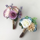 Vivifying Round Bridesmaid Bouquets - (123205651)