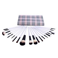 20 Pcs Natural Goat Hair Makeup Brush Set With Trellis Design Pouch (046049497)