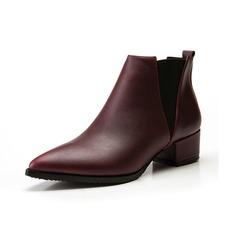 Kunstleder Niederiger Absatz Flache Schuhe Stiefel Schuhe (088057403)