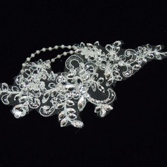 Gorgeous Lace Headbands With Rhinestone/Venetian Pearl (042026176)