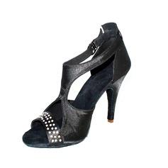 Donna Raso Tacchi Sandalo Latino con Strass Scarpe da ballo (053026457)