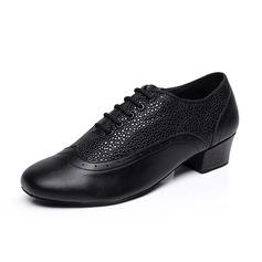 Herren Echtleder Heels Absatzschuhe Latin Ballsaal Swing Training Charakter Schuhe Tanzschuhe (053085569)