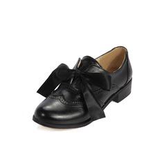 Vrouwen Kunstleer Low Heel Flats met Gevlochten Riempje schoenen (086097426)