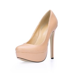 Women's Leatherette Stiletto Heel Pumps Platform Closed Toe shoes (085017504)