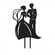 Figurina Sposa e Sposo Acrilico Matrimonio Decorazioni per torte/Nuziale Doccia Decorazioni per torte (119063246)