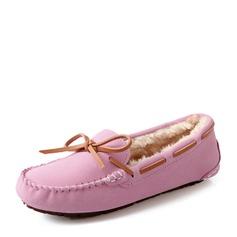 De mujer Ante Tacón plano Planos Cerrados con Bowknot zapatos (086149305)
