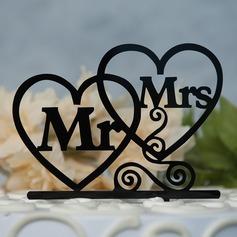 Cuori Doppi/Mr & Mrs Acrilico Decorazioni per torte (119157029)