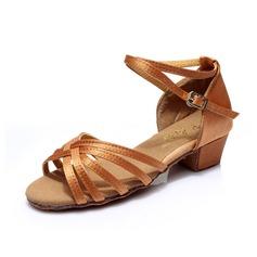 Per bambini Raso Tacchi Sandalo Latino con Listino alla caviglia Scarpe da ballo (053053045)