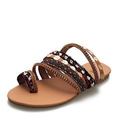 Donna Similpelle Senza tacco Sandalo Ballerine scarpe (087171528)