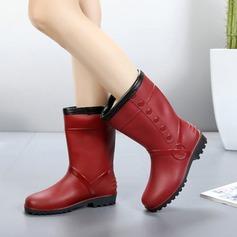 Donna PVC Tacco basso Stivali Stivali altezza media Stivali da pioggia con Altrui scarpe (088138746)