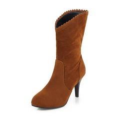 Frauen Veloursleder Kegel Absatz Absatzschuhe Stiefel Stiefel-Wadenlang mit Andere Schuhe (088190946)
