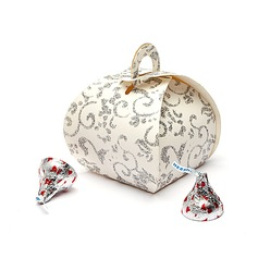 Conception Florale Forme en sac à main Boîtes cadeaux (Lot de 12) (050038239)