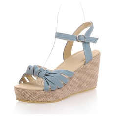 Kankaalla Wedge heel Sandaalit Kantiohihnakengät kengät (087063354)