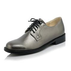 Women's Leatherette Flat Heel Flats Closed Toe shoes (086094302)