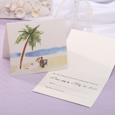 Personalized Modern Style Top Fold Response Cards (Set of 20) (114063920)