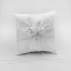 Elegant Ring Pillow in Satin With Bow/Flowers (103190795)
