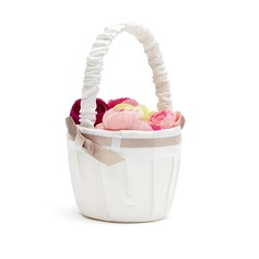 Pure Flower Basket in Satin With Ribbons (102018100)