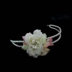 Gorgeous Imitation Pearls/Artificial Silk Headbands (042025258)