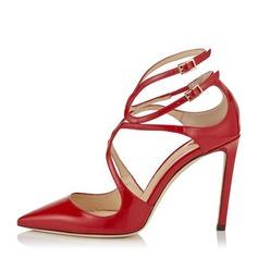 Donna Similpelle Tacco a spillo Stiletto Punta chiusa con Fibbia scarpe (085153100)