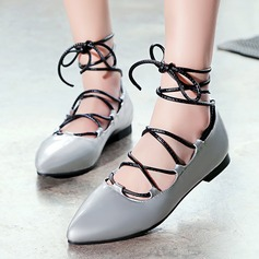 Women's Leatherette Flat Heel Sandals Flats Closed Toe With Lace-up shoes (086119360)