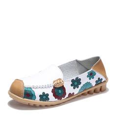 De mujer PU Tacón plano Planos con Material Block zapatos (086149306)