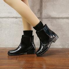 Frauen PVC Niederiger Absatz Stiefel Regenstiefel mit Andere Schuhe (088131039)