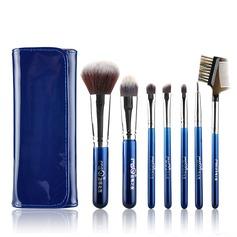 Artificial Fibre Fashion 7Pcs Blue Pouch Makeup Supply (046074569)