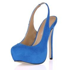 Suede Stiletto Heel Pumps Plateau Closed Toe schoenen (085017465)