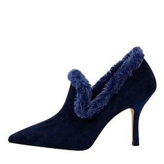 De mujer Ante Tacón stilettos Salón Cerrados con Piel Sintética zapatos (088191473)