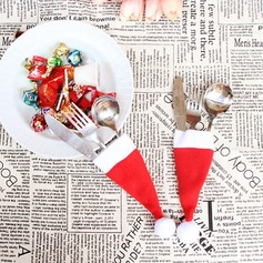 4pcs/Set Christmas Hat Cutlery Favor Bag Dinner Decor) Gifts (129148789)