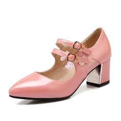 Naisten Keinonahasta Chunky heel Avokkaat Suljettu toe jossa Split yhteinen kengät (085102872)