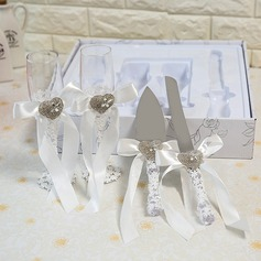 Simple Design/Elegant/Classic Toasting Flutes With Ribbon Bow (126199803)