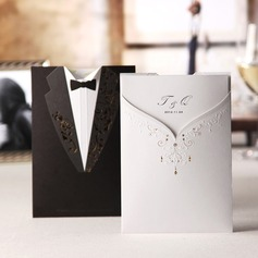 Personalized Bride & Groom Style Wrap & Pocket Invitation Cards (Set of 20) (114024222)