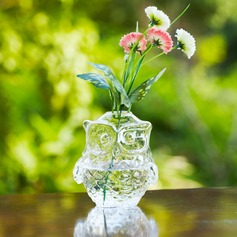 Owl design Glass Vase (128035762)