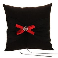 Simple Ring Pillow in Satin/Polyester With Bow (103190790)