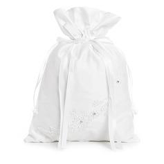 Elegant Satin With Bowknot/Imitation Pearl Bridal Purse (012003820)